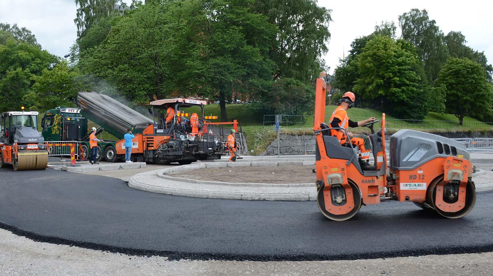 Peab asfaltläggning med Sekabs lignin